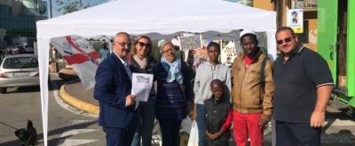 Gazebo a Brugherio contro il MES e per sostenere MoviSol