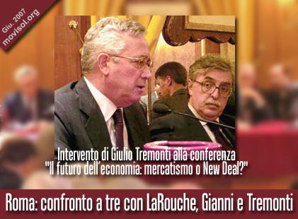 Intervento di Giulio Tremonti alla conferenza