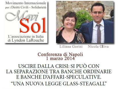 Conferenza di Napoli sulla legge Glass-Steagall di separazione bancaria