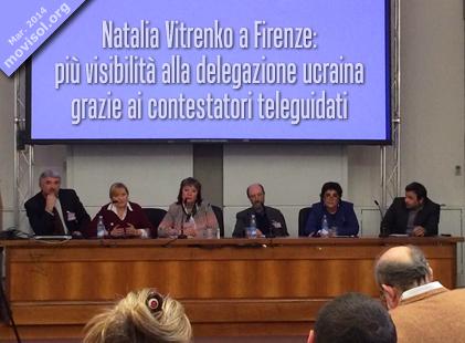 Natalia Vitrenko a Firenze: più visibilità alla delegazione ucraina grazie ai contestatori teleguidati