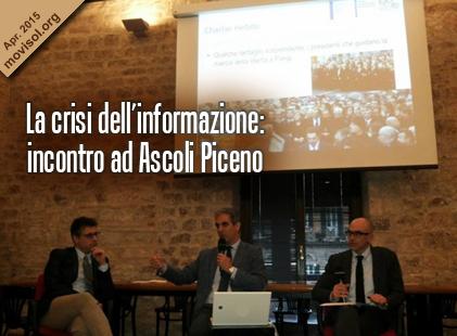 La crisi dell'informazione: incontro ad Ascoli Piceno