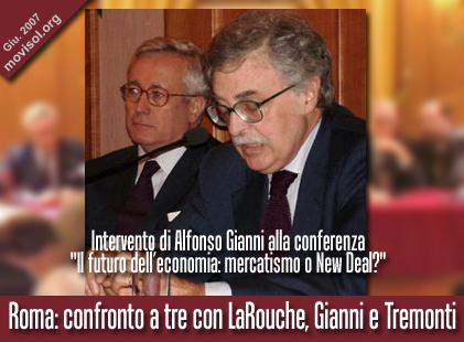 Intervento di Alfonso Gianni, sottosegretario al Ministero dello Sviluppo Economico e membro della Direzione del PRC, alla conferenza