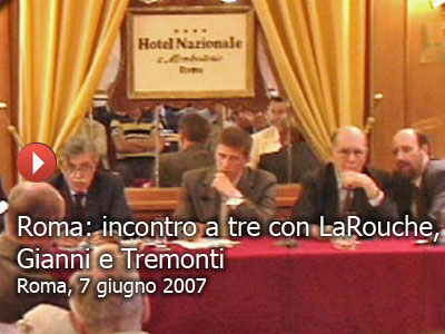 Roma: incontro a tre con LaRouche, Tremonti e Gianni (video)