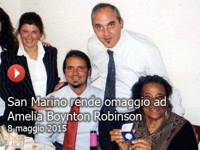Il TG di San Marino sul premio ad Amelia Boynton Robinson