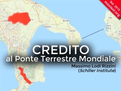 Credito al Ponte Terrestre Mondiale: intervento alla conferenza sul Mezzogiorno degli Innovatori Europei (PD)