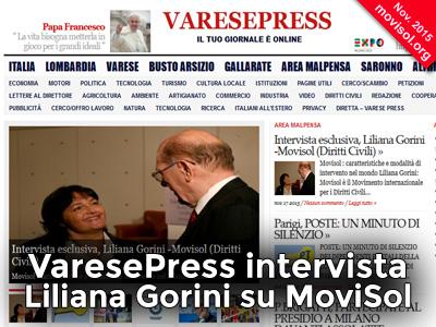 Varese Press intervista Liliana Gorini su MoviSol : caratteristiche e modalità di intervento nel mondo