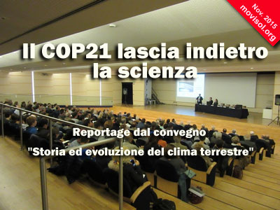 Il COP21 lascia indietro la scienza
