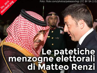 Le patetiche menzogne elettorali di Matteo Renzi