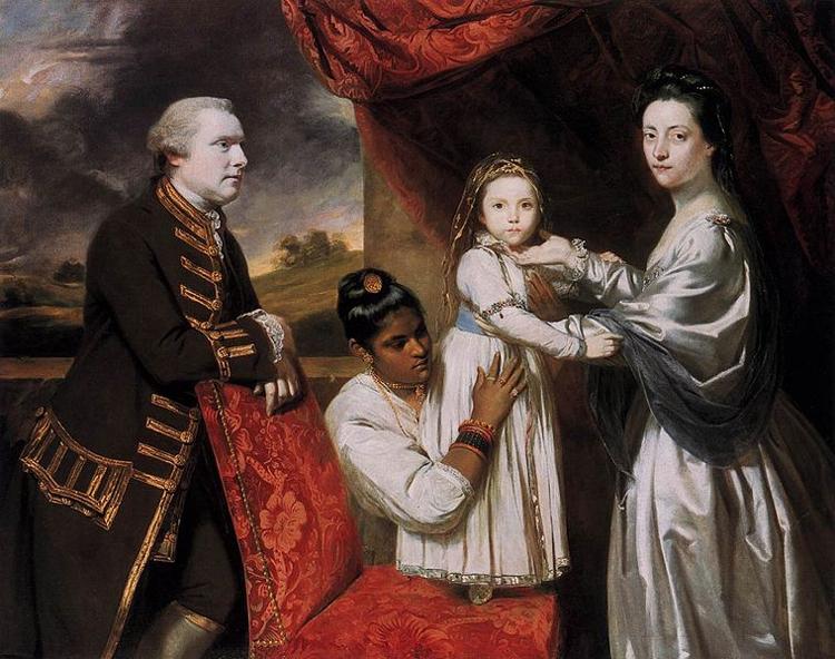 Ritratto della famiglia Clive, con serva indiana, dipinto da Joshua Reynolds nel 1765