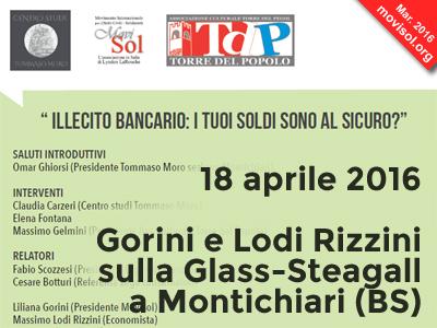 Gorini e Lodi Rizzini sulla Glass-Steagall a Montichiari