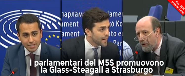 I parlamentari del M5S promuovono la Glass-Steagall a Strasburgo