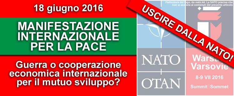 18 giugno 2016 - Manifestazione internazionale per la pace - Usciamo dalla NATO!