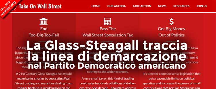 La Glass-Steagall traccia la linea di demarcazione nel Partito Democratico americano