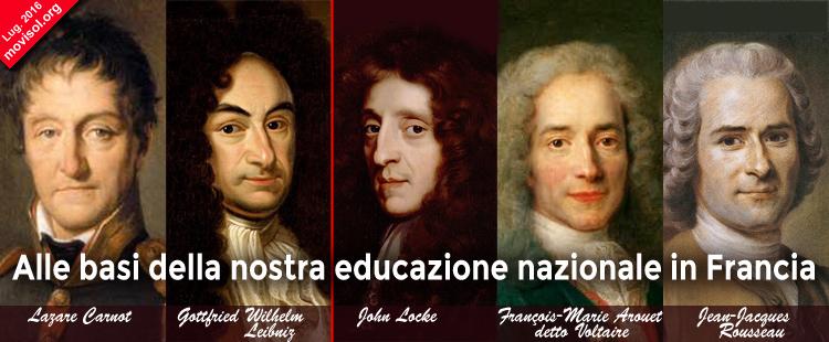 Alle basi della nostra educazione nazionale in Francia