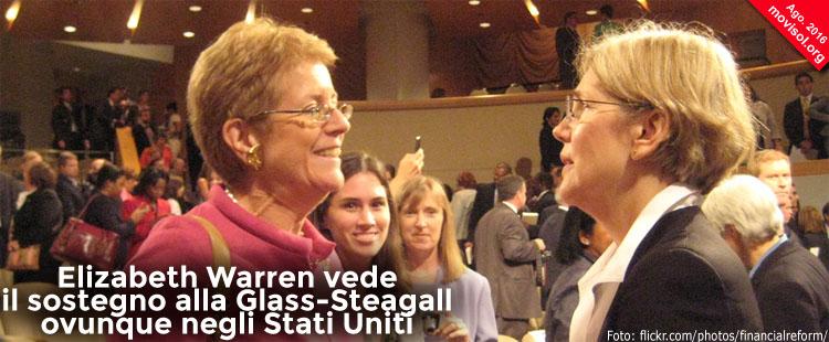 Elizabeth Warren vede il sostegno alla Glass-Steagall ovunque negli Stati Uniti