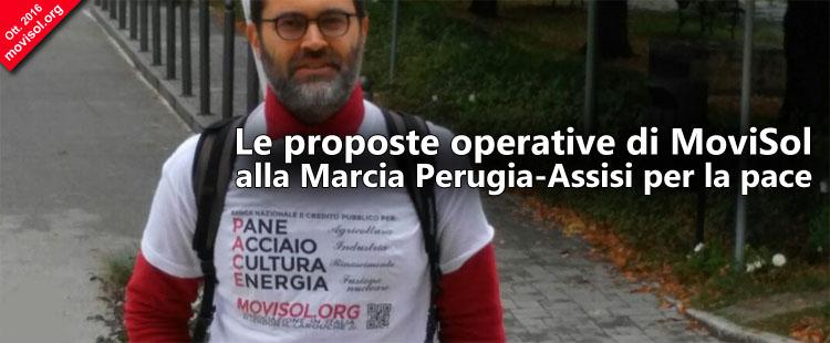 Le proposte operative di MoviSol alla Marcia Perugia-Assisi per la pace