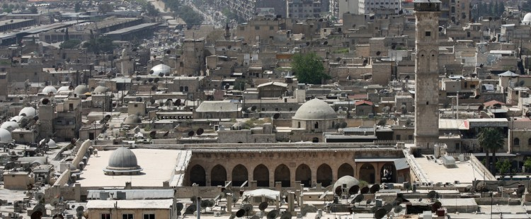 The great mosque (Umayyad mosque) of Aleppo, Syria.