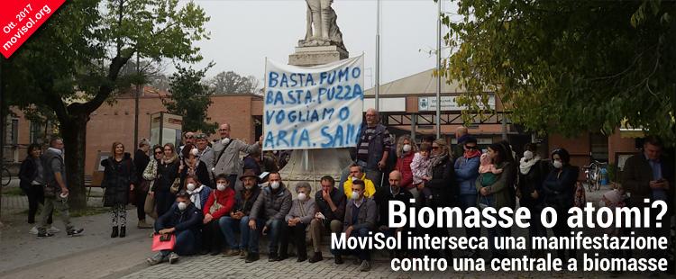 Biomasse o atomi? MoviSol interseca una manifestazione contro una centrale a biomasse