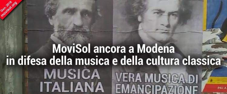 MoviSol ancora a Modena in difesa della musica e della cultura classica