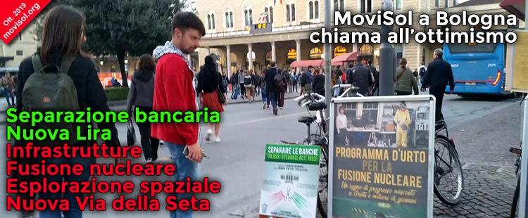 MoviSol a Bologna chiama all'ottimismo